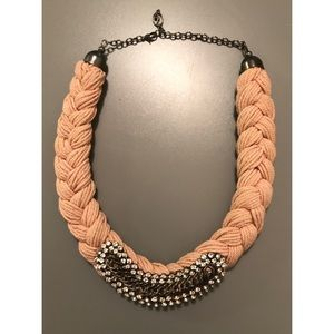Stradivarius Braid Rhinestone Necklace